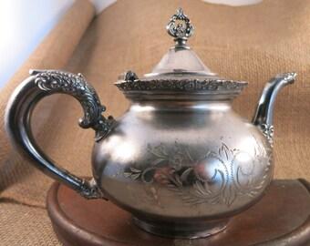 Van Bergh Quadruple Silverplate Teapot