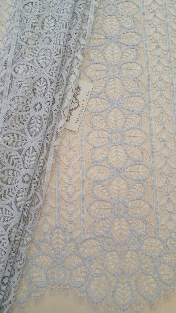 Gray Lace fabric Evening lace Bridal lace Spanish style
