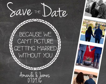 Photo Booth Strip Save the Date