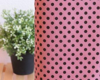1/2 yard Lecien Color Basic - Mauve Pink with Black Dot - 4505-PC
