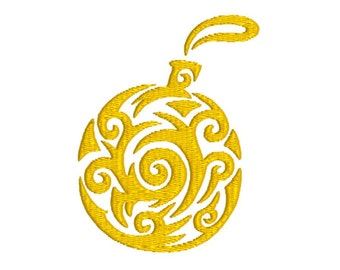 "christmas ornament machine embroidery design, christmas decorations, fill embroidery design, 3 sizes,fits 3""x3"", 4""x4"", 5""x5"" hoops"