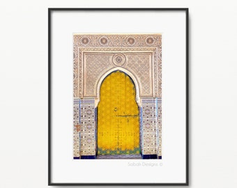 Yellow Darbar Islamic Print - Modern Islamic Wall Art - Instant Download - A4 and 8 x 10""