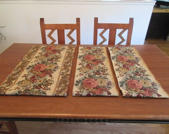 Vintage Classy Floral Tapestry Table/Buffet Runners