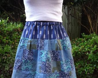 Desert Sky Patchwork Skirt