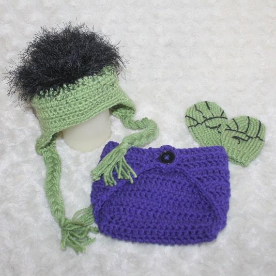 Incredible hulk crochet baby hat set hulk beyoutifulworks jpg 570x570 Hulk  hat crochet pattern 4576e146eb3