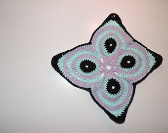 Doily or Potholder cotton Butterfly