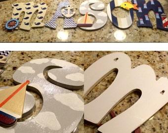 Nautical Themed Nursery Letters