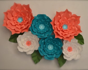 Large Paper Flowers-Set of 6