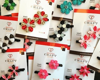 Kanzashi Flower Hairpins