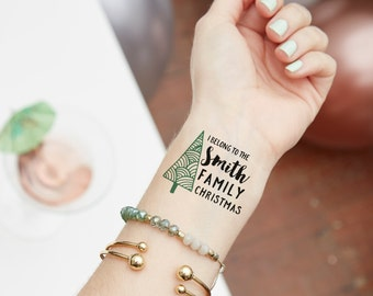 Christmas Temporary Tattoo | Stocking Stuffer | Party Favor | Holiday | Gift