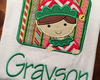 Boy Elf Christmas Shirt