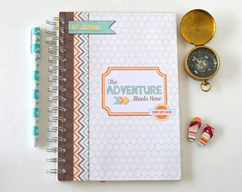 Travelers notebook.-Travel planner- Travelers journal- memory journal- scrapbook journal
