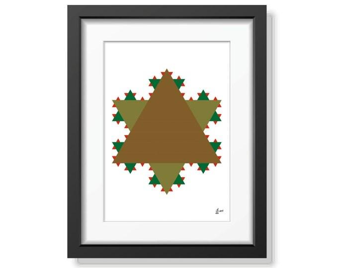 Koch star 06 [mathematical abstract art print, unframed] A4/A3 sizes