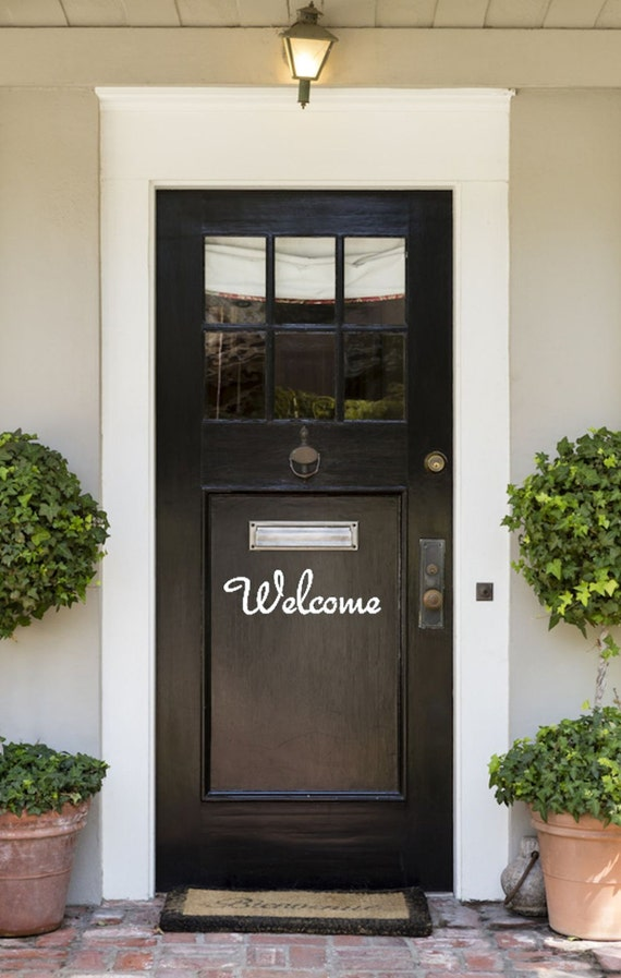 Welcome Vinyl Wall Decal Outdoor
