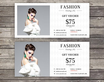 Fashion Gift Voucher Template | Gift Voucher | Instant Download Digital Photoshop and Microsoft Word Template