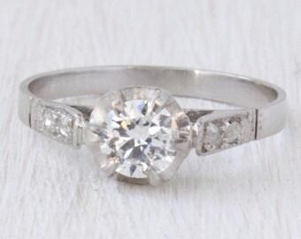 Eva 0.30 Ct Diamond Vintage Engagement Ring