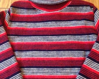 Kids Long sleeve stripy top jumper 1970's original unworn