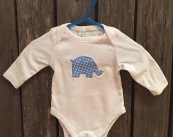 Elephant Appliqued onesie