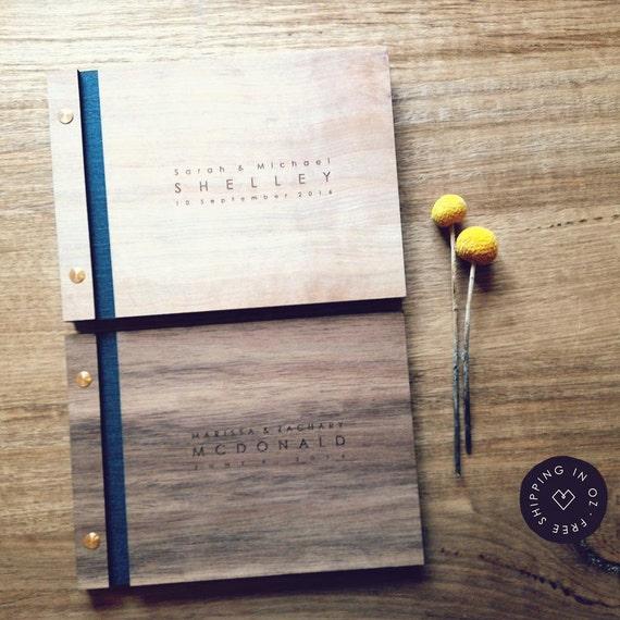 Real Weddings Tasmania: Wedding Guest Book A5 Size Rustic Guest By WeddingGuestBookCo