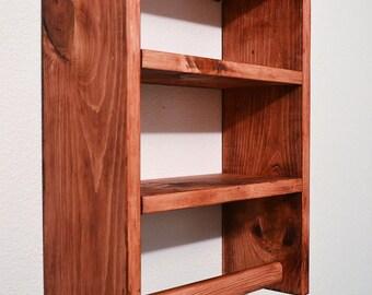 Rustic Shelf,Towel Rack,Bathroom Shelf,Rustic Shelf,Shelf,towel shelf,Bathroom,Rustic Decor,Wood Shelf,towel bar,Home Decor,Handmade,Wood,