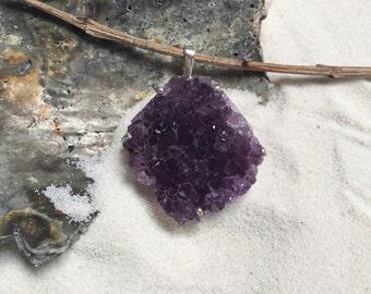 Uruguay Amethyst Crystal Pendant