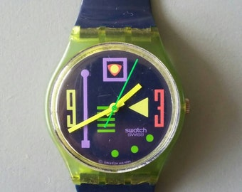 Retro Swatch made in Swiss Memphis Style '80