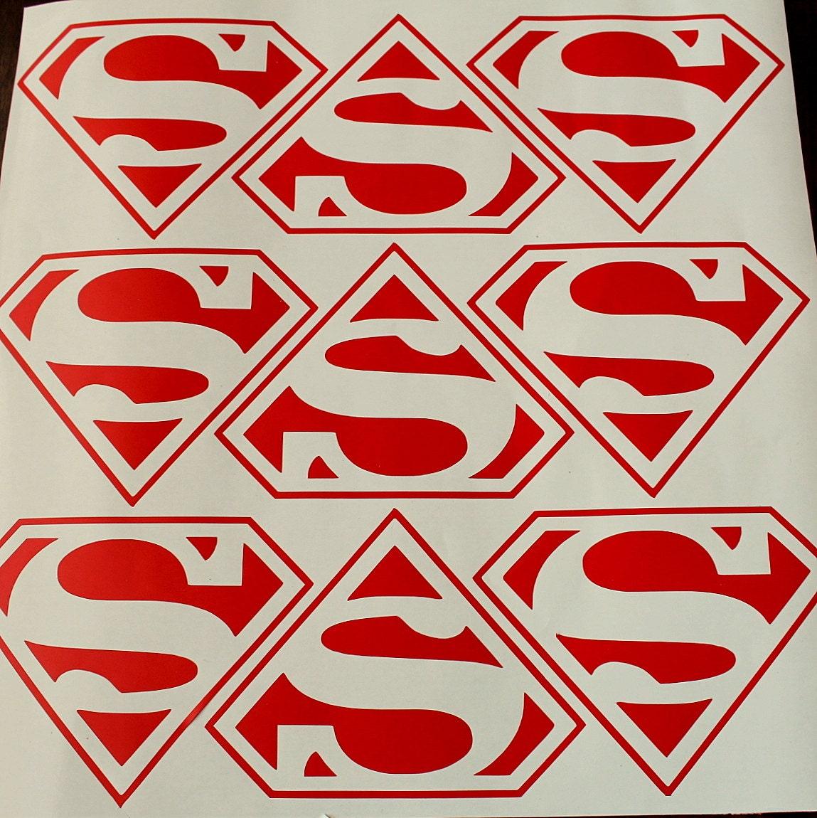 100 Superman Vinyl Decals Superman Wall Sticker Superman
