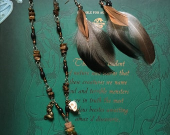 Werewolf Spirit - Necklace and Earring Set