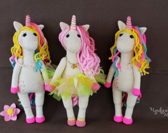 A sweet unicorn PDF crochet toy pattern