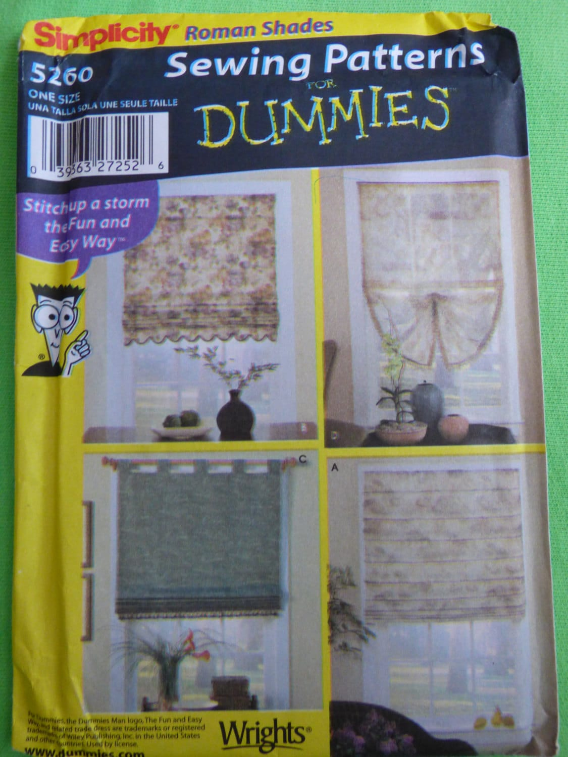Simplicity sewing patterns for dummies 5260 uncut roman for Koi ponds for dummies