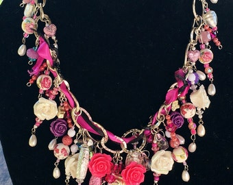 Crown-Me-In-Roses Necklace