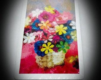 vintage card deck Western Publishing Co unopened watercolor floral design