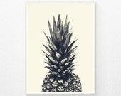 Pineapple Print, Pineapple Art, Tropical Print, tropical art, tropical poster, Fruit Print, Pineapple Wall Art, printable wall art prints