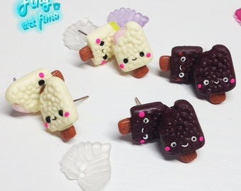 button earrings ice cream
