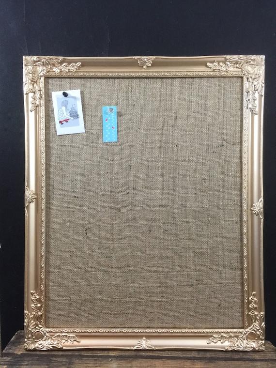 Glitzy GoLD / SiLVER BULLETIN BOARD // Ornate Notice Board // Framed Pin Board // Burlap Message Board // Jute Hessian Vision Board