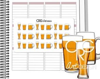 Beer Stickers | Planner Erin Condren Plum Planner Filofax Sticker