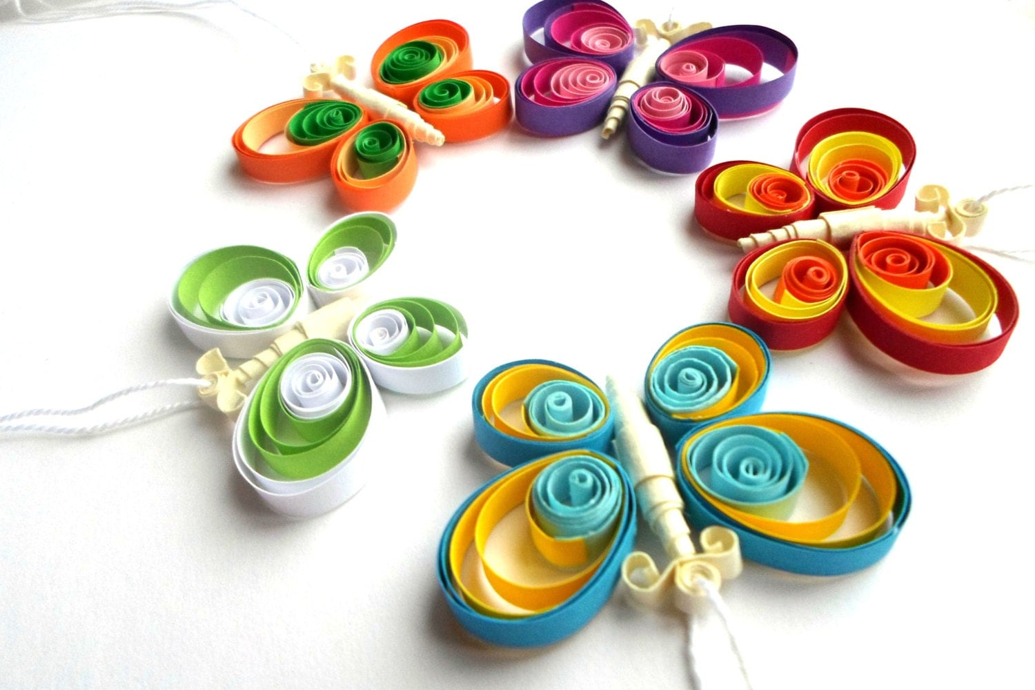 Quilled home decor butterfly ornament butterfly decor for Decoration quilling