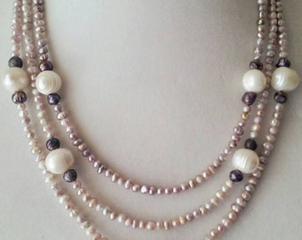 Freshwater Pearls Multistrand Necklace