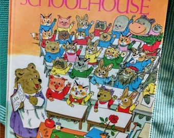 Richard Scarry Book Great Big Schoolhouse Big Hardcover Book