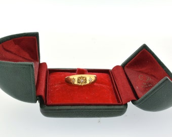 Vintage Ring Box, Leather Ring Box, Engagement Ring Box, Vintage Ring Case, Jewellery Box, Vintage Jewelry Box, Ring Box