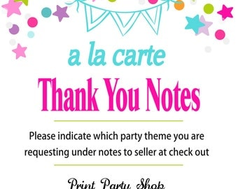 A La Carte Thank You Notes