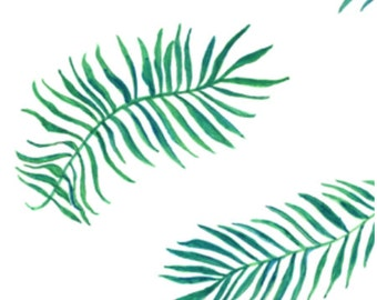 Palm Leaf / Fitted Crib Sheet / Baby Crib Sheet / Toddler Crib Sheet / Modern Crib Sheet