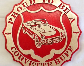 Proud To Be A Corvette Buff Plaque