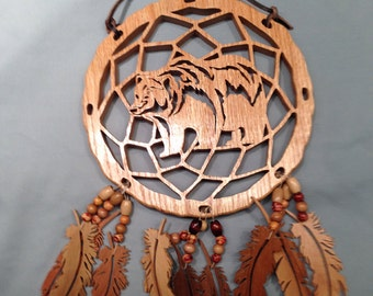 Bear Dream Catcher - Oak