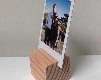 Pack of 4 Instant Photo Holder Display Wood Blocks