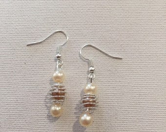 Caged Pearl White & BEIGE