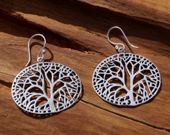 Tree of Life Earrings Silver, Yggdrasil Earrings