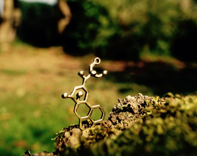 Featured listing image: LSD Necklace Small, Molecular Structure LSD, Small LSD Pendant
