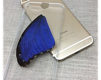 iPhone 6/6s; Real Butterfly Clear Case; Blue Morpho; Mobile Accessories, iPhone 6 PLUS, Butterfly Wing Phone Case, Unique Phone Accessories