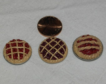 Miniature Dollhouse Food - Fruit Pies